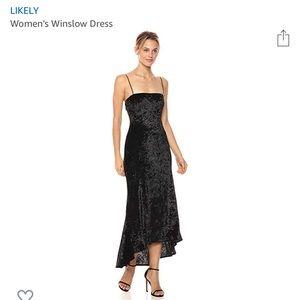 Likely Black Winslow Velvet Dress
